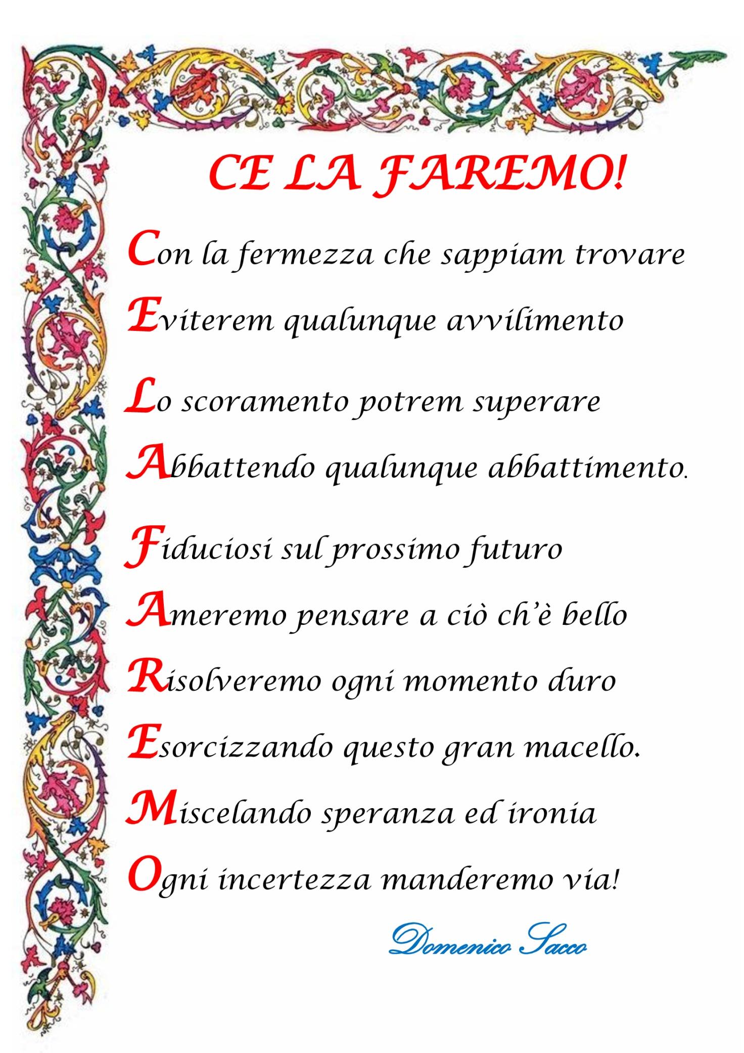 C:\Users\Rossi\Desktop\MARZO 2020\5° serie  Diario\Domenico Sacco 2 CE LA FAREMO.jpg