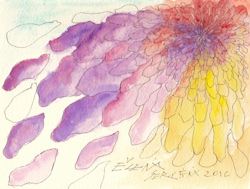 C:\Users\Rossi\Desktop\MARZO 2020\FOTO di scrittori\Eugenia Serafini Opere\E.Serfini ZINNIA il primo fiore dello spazioacquerello2016 PERECARTA.jpg